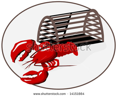 Lobster Trap Stock Images, Royalty.