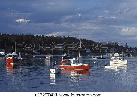 Stock Photograph of Stonington, ME, Maine, Deer Isle, Lobster.