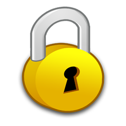 Security lock clipart #2