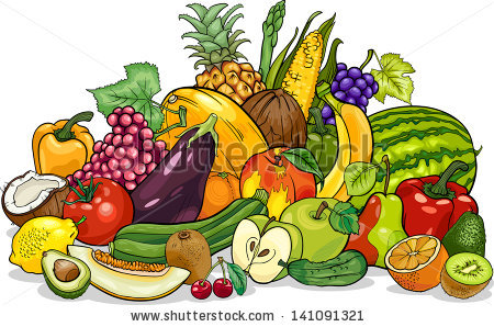 Cartoon Fruit Stock Images, Royalty.