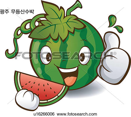 Clip Art of fruits, local specialty, fruit, Character, Characters.