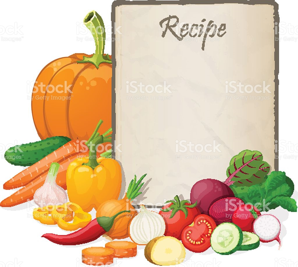 Recipe Card Kitchen Note Blank Template Vector Illustration.