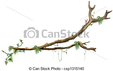 Stock Illustration of Branch Tree A02.