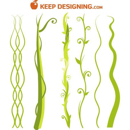 Jungle Vine Clip Art, Vector Jungle Vine.
