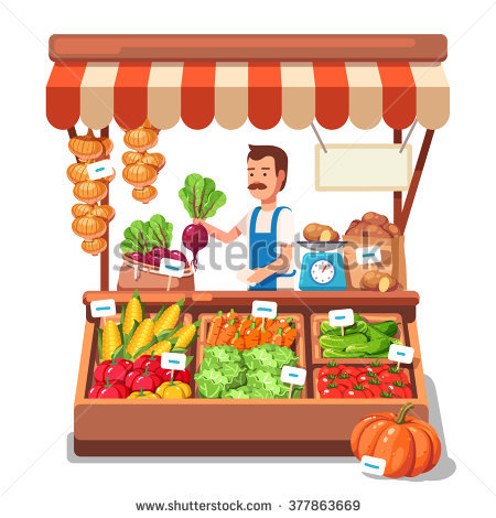 Vegetable Market Stock Images, Royalty.