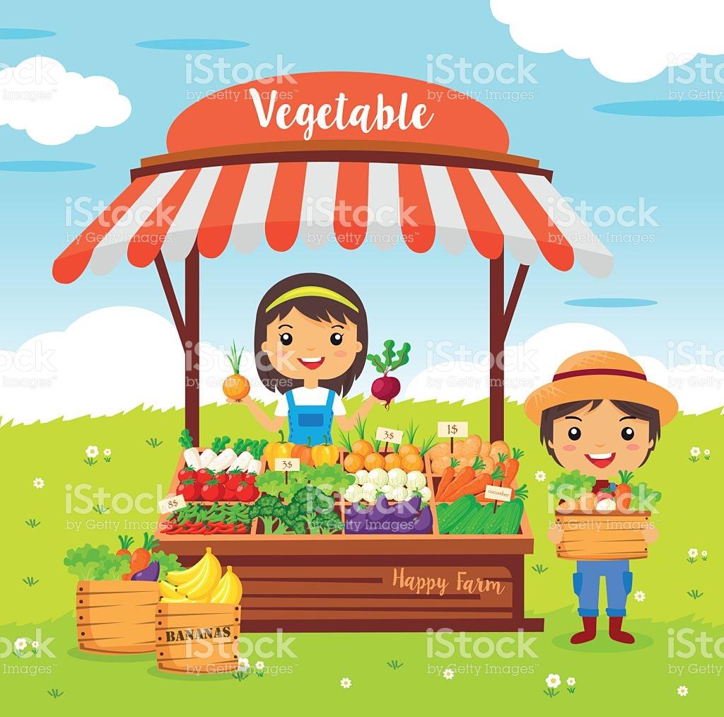 Local Market Farmer Vegetables Shop stock vector art 538570526.