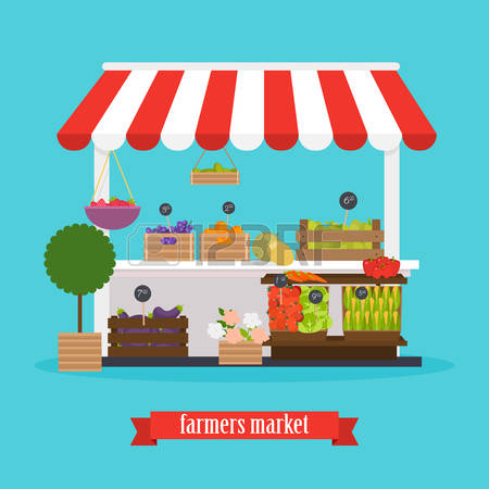 2,996 Market Stall Cliparts, Stock Vector And Royalty Free Market.