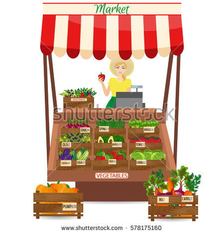 Market Stall Stock Images, Royalty.