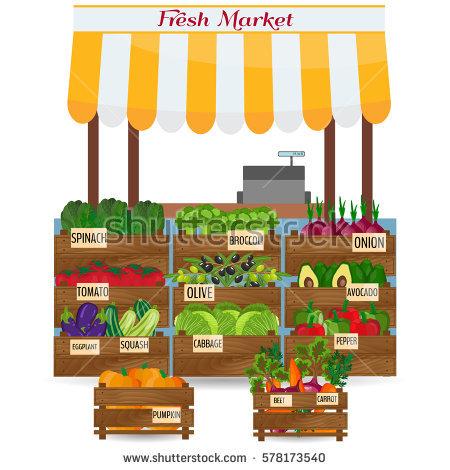 Local Market Stock Photos, Royalty.