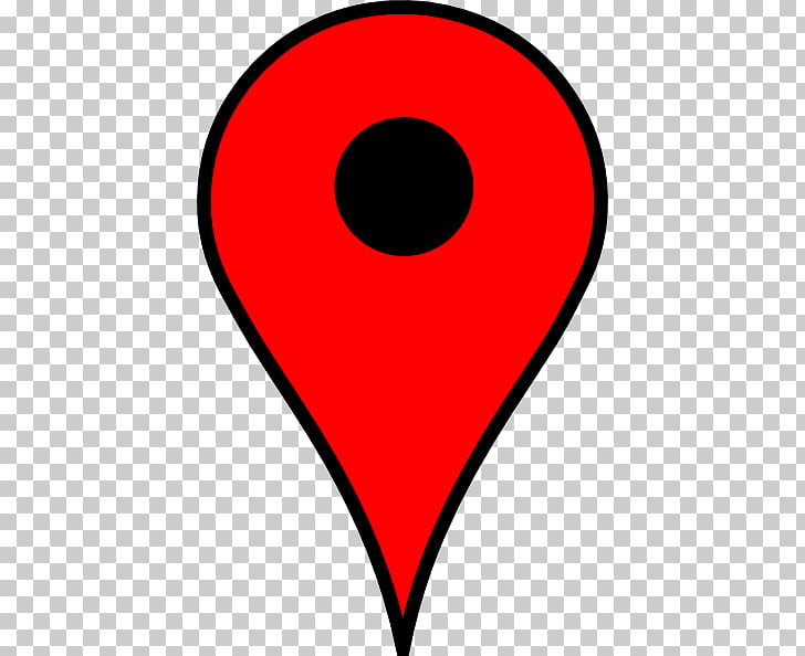 Red Map Pin, red and black location spot illustration PNG.