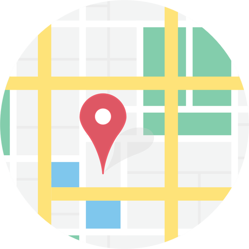 Vector clip art of location on map sign.