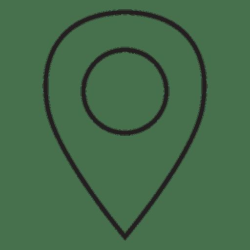Location pin stroke icon.