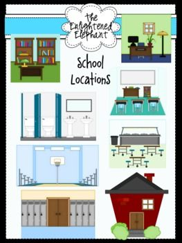 School Locations Clip Art.
