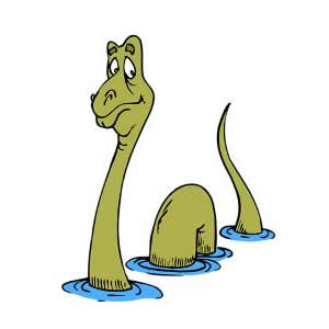 Loch ness monster clip art.