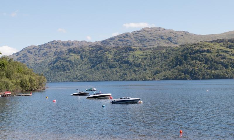 Lodges at Loch Lomond Holiday Park.