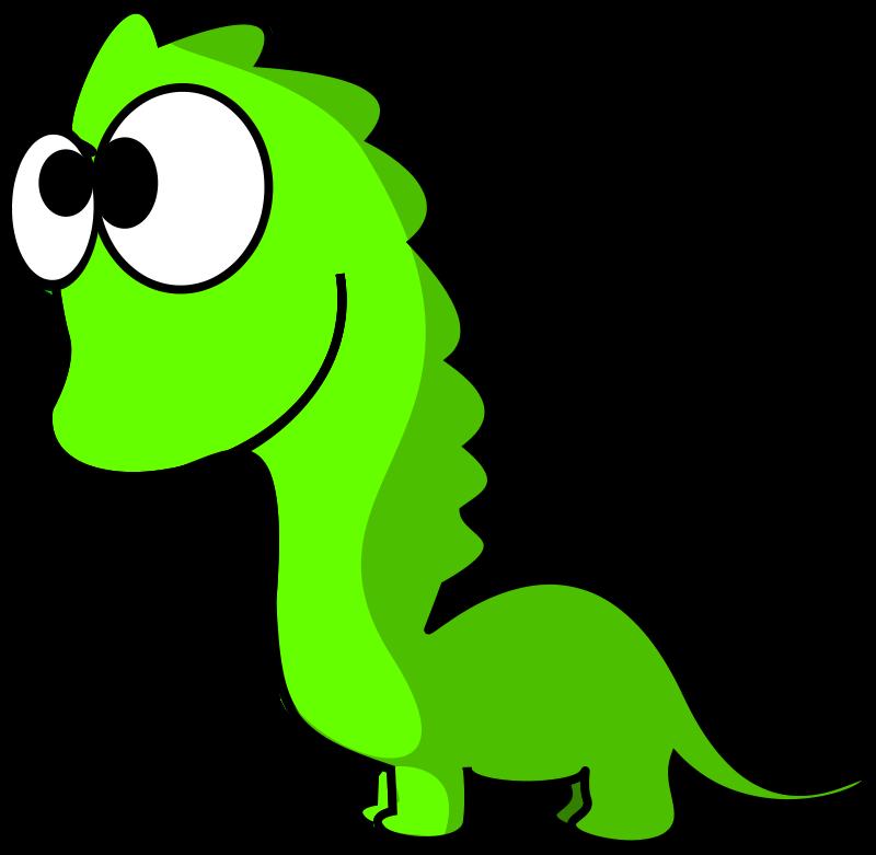 Cartoon Loch Ness Monster.