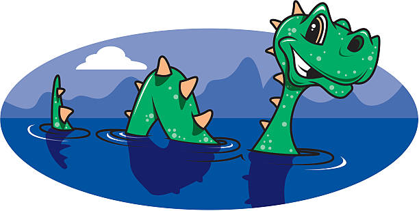 Best Loch Ness Monster Illustrations, Royalty.