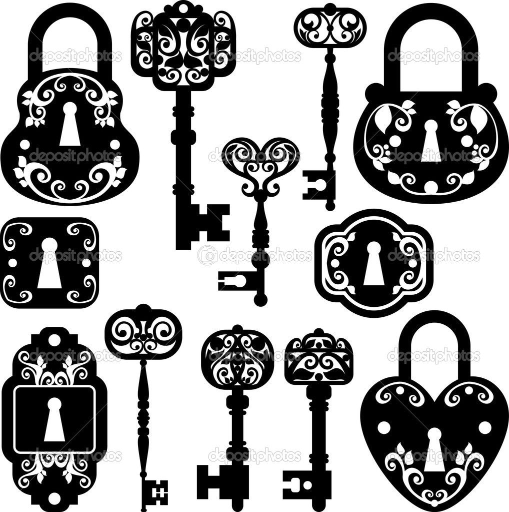 lock and key clip art free.