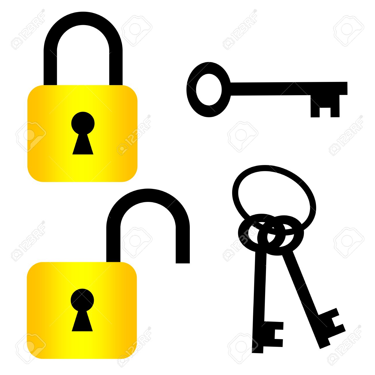 Key In Lock Clipart.