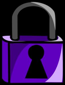 Purple Lock Clip Art at Clker.com.