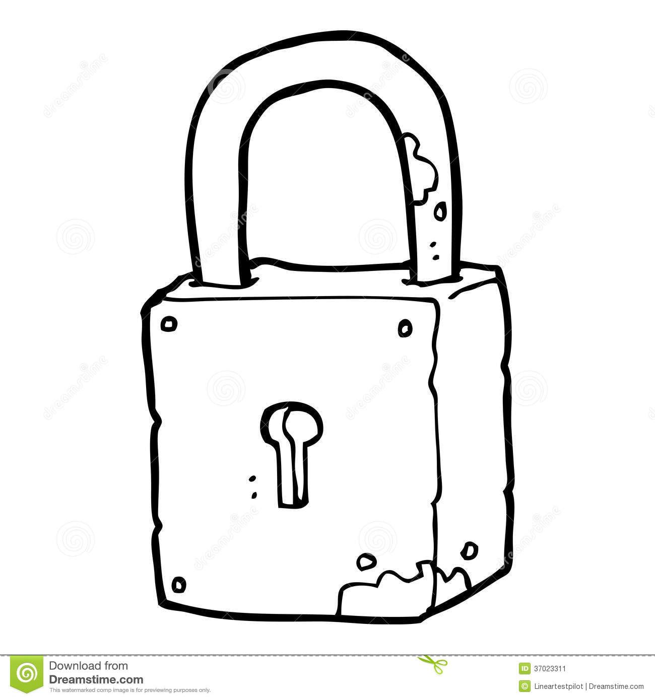 Lock Clipart Black And White.