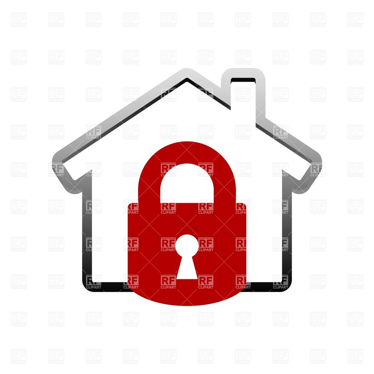 Locked House Clipart.