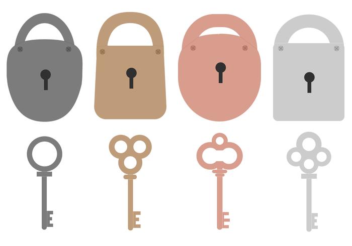 Key and Lock Vector.