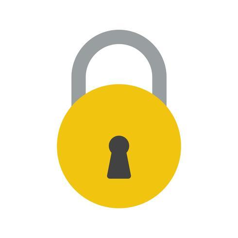 Lock Vector Icon.