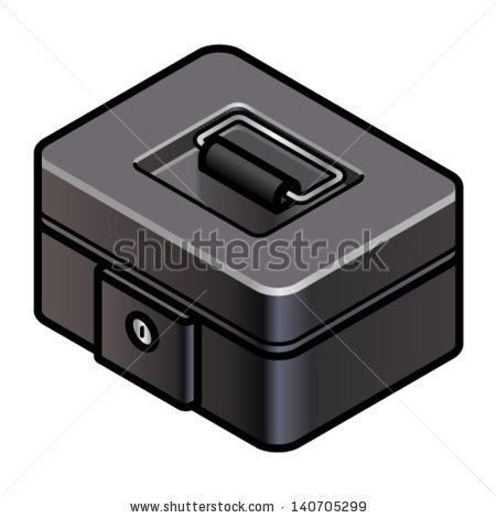 Petty cash box clipart.
