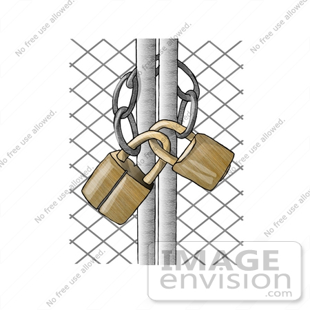 Locked gate clipart.