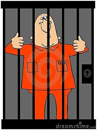 Cartoon Guy Jail Stock Illustrations.