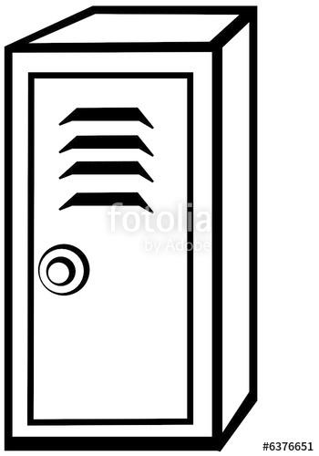 Black and whitelocker clip art Transparent pictures on F.