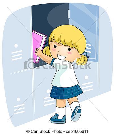 Clipart of Student Locker.