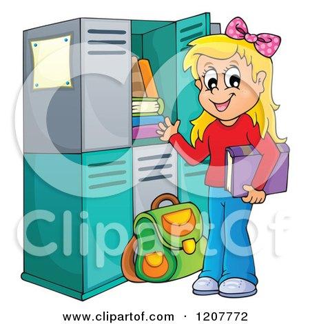 Girls Locker Clipart.