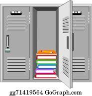 School Locker Clip Art.