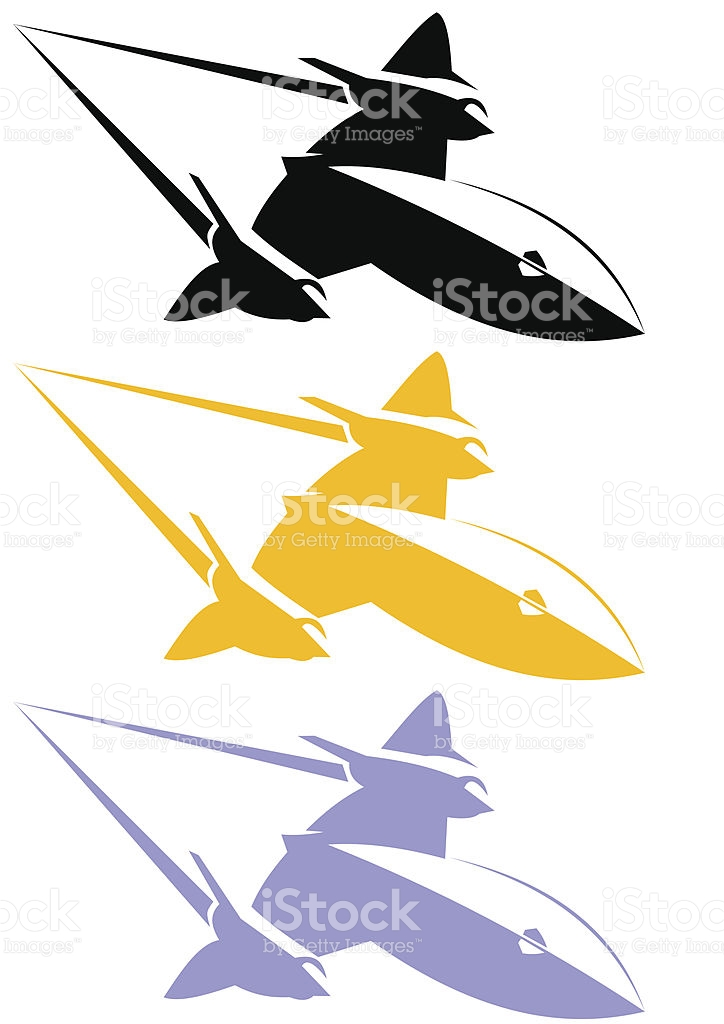 Line Art Blackbird Sr71 stock vector art 165597808.