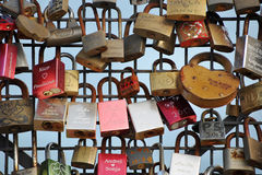 Love Lock Bridge Stock Illustrations.