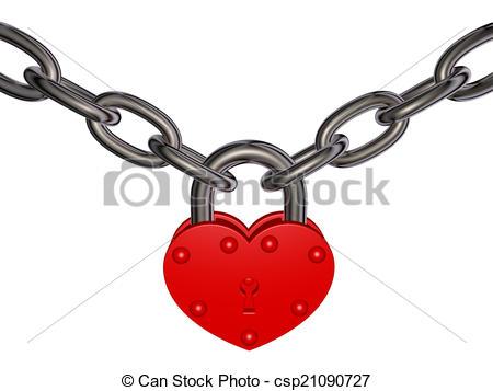 Clip Art of Lock of love.
