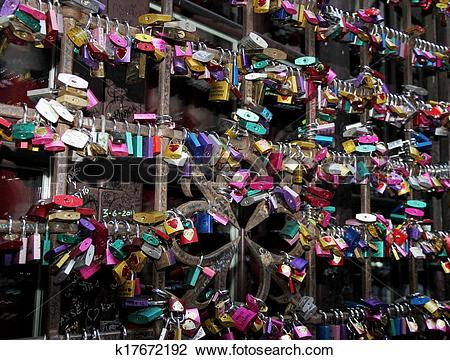 Stock Photo of locks of love in the gate of the House of Juliet.