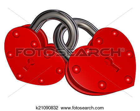 Clip Art of Locks of Love k21090832.