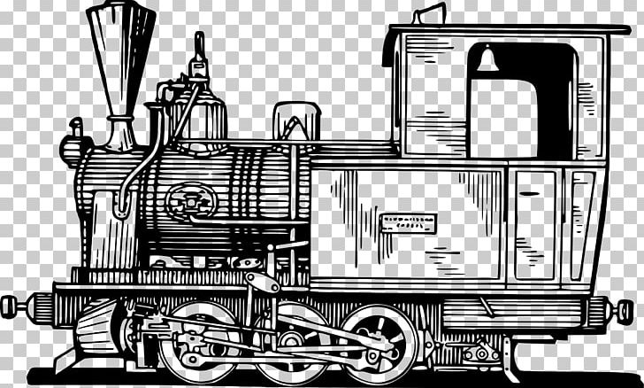 Train Rail Transport Steam Locomotive Passenger Car PNG.