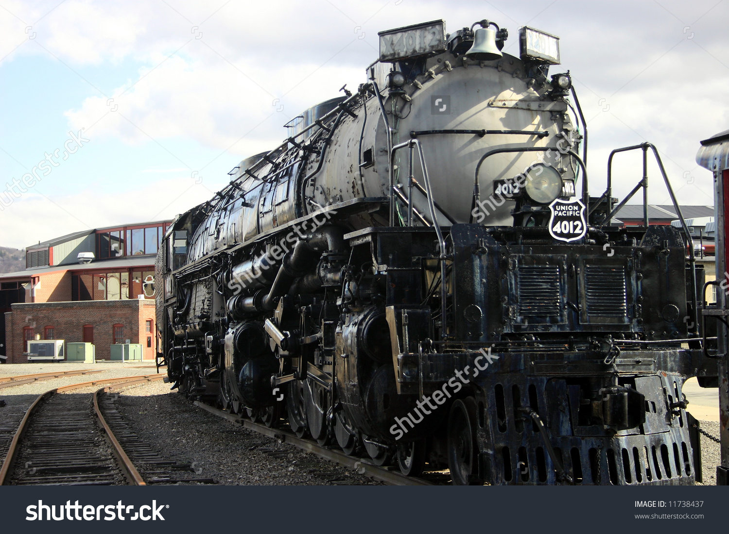 Steam Engine Union Pacific Train Roundhouse Stock Photo 11738437.