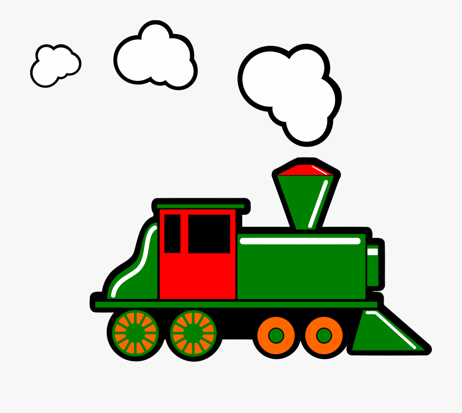 Railroad Clipart Steam Train.