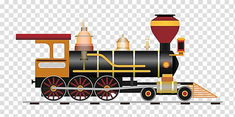 Train Rail transport Steam locomotive Illustration, steam.