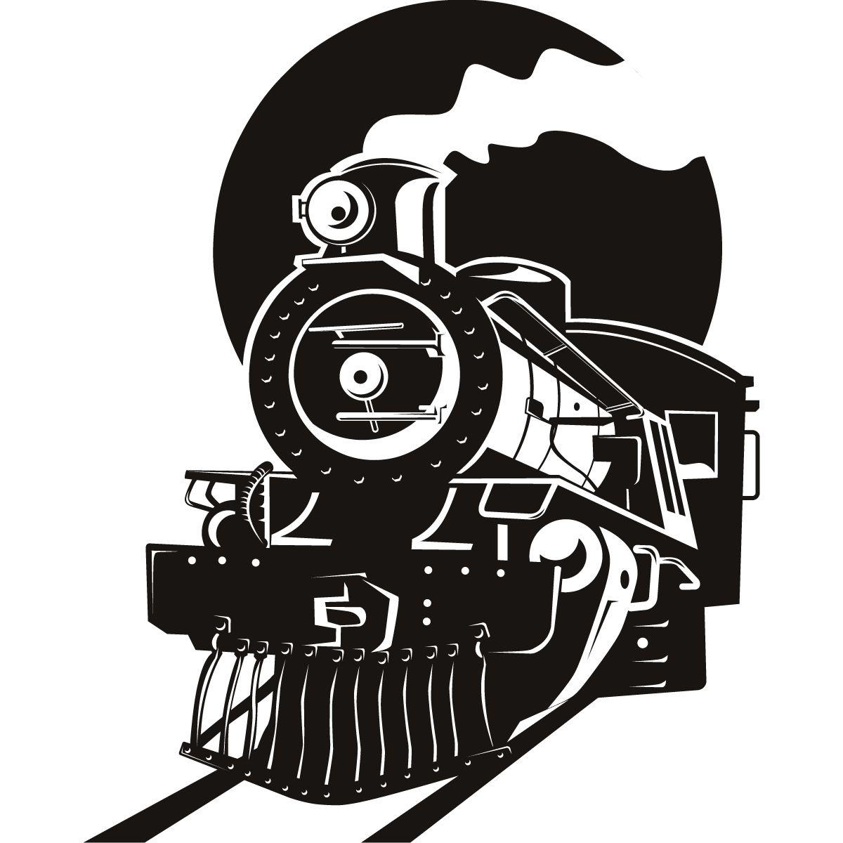 Steam Locomotive Silhouette Steam locomotive silhouette.