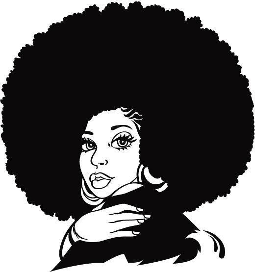 Clipart black woman hair locs.