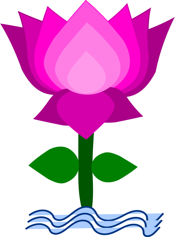 Lotus Flower Clip Art Free.
