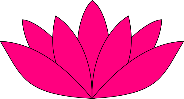 Open lotus flower clipart.