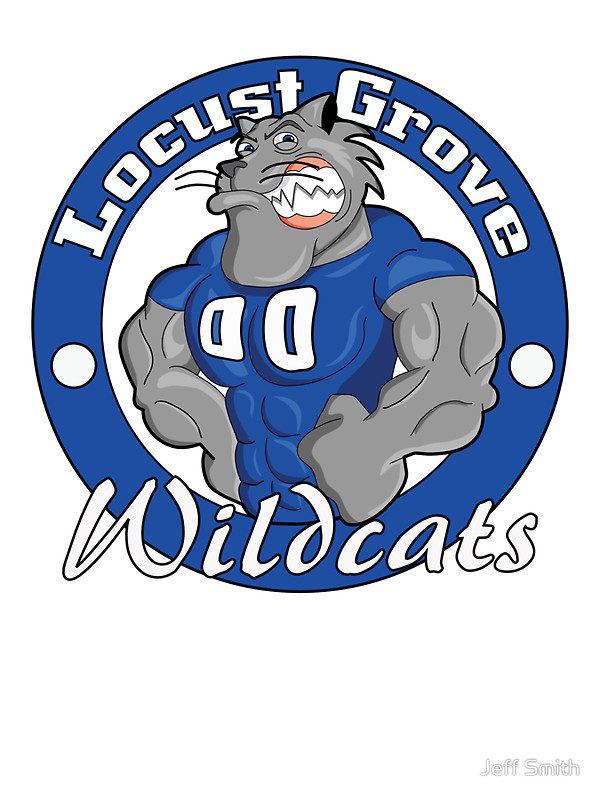 "Locust Grove Wildcats"" Stickers by Jeff Smith."