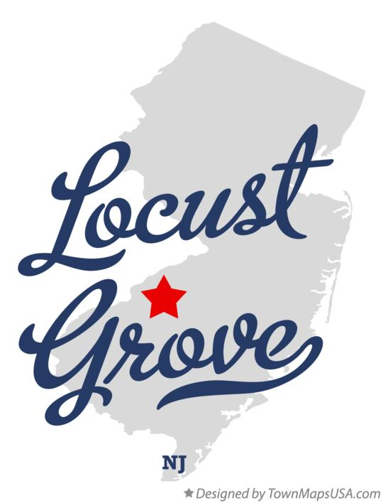 Map of Locust Grove, NJ, New Jersey.